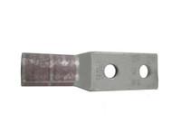 """Burndy YA25L2TC14E2 Two-Hole Copper Lug (1/4"""" Stud, Short Barrel)"""