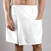 Men's Terry Velour Shower or Bath Towel Wrap