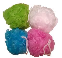 Mesh Bath Pouf Sponge 4 Pack