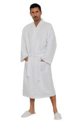 Lightweight Waffle Kimono Cotton Bathrobe for Men and Women