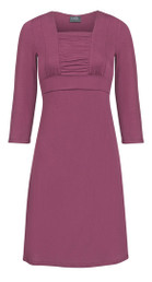 Square-neckline nursing dress