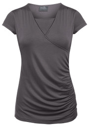 Side-shirred nursing top