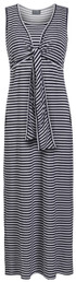Tie two-ways maxi striped nursing dress