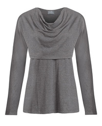 Dolman sleeve cowl neck top