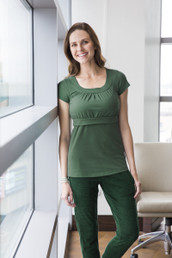 Empire scoop neck nursing top