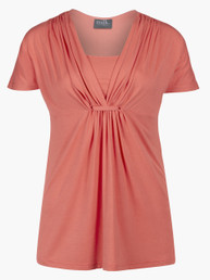 Gathered-loop nursing top