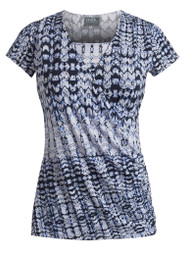 Printed shirred nursing top