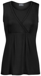 Sleeveless crossover everyday nursing top