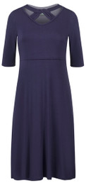 Cut-out neckline nursing dress