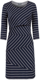 Layered zig zag nursing dress