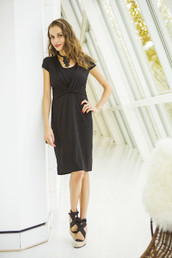 Black Cocktail Nursing Dress