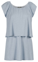 Heathered peasant nursing top