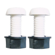 A Pair of Number Plate Fixing Bolts - White