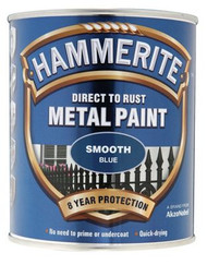 Blue Hammerite, Smooth Finish  - 250 ml