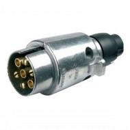 Aluminium Plug For Caravan & Trailer - 12N,  7 Pin