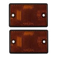 Amber Oblong Side Reflectors ,Screw Type - 77 mm x 46 mm