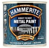 Silver Hammerite, Hammered Finish  - 250 ml