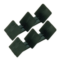 A Pair of Classic 3 Fin Black Wiper Aids - Universal Push On Fit