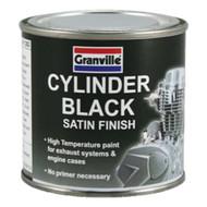 Satin Finish Cylinder Black - 250 ml