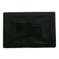 Single Universal Rubber Car Mat - 50 cm x 35 cm Black