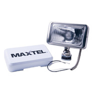"Rectangular Chrome Driving Lamp With Cover & Side Light - 8"" (20 cm )"