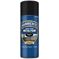 Hammerite Smooth Black Spray Paint - 400 ml
