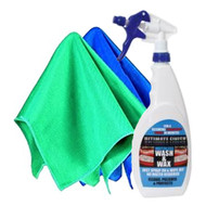 Ultimate Finish Waterless Wash & Wax Pack inc 2x Cloths - 750 ml