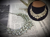 Wing Shape Crystal Necklace
