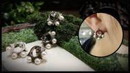 Spike Earrings with Pearl
