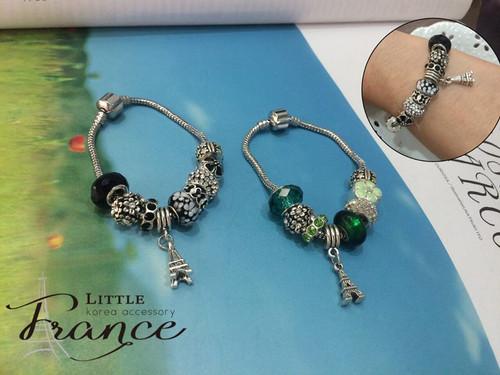 Cute Beads Bracelet with Eiffel Tower Charm