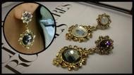 Fancy Stone Drop Earrings