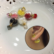 Colorful Cleared Ball Earrings