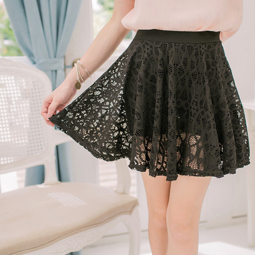 A-Line Lace Swing Skirt