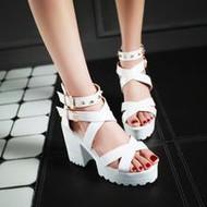 Studded Platform Chunky Heel Sandals