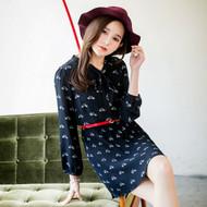 Cute Printed Chiffon Dress