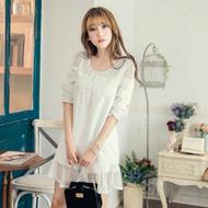 Textured Cotton Lace Dress