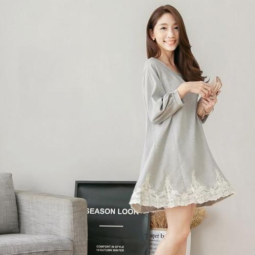 Pattern Lace Swing Dress