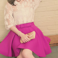 Bowknot Swing Skirt