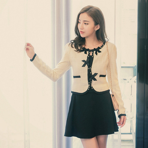 Bow Decorative Beads Jacket