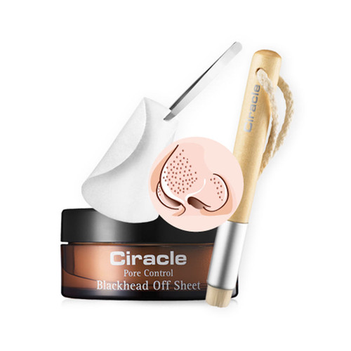 Ciracle Blackhead Off Set - Blackhead Off Sheet + Pore Control Blackhead Brush