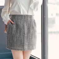 Mixed Woven Skirt