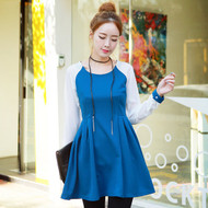 Chiffon Sleeves A Line Dress