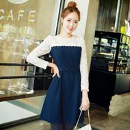Elegant Lace Stitching Dress