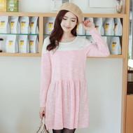 Woven Lace Stitching Dress