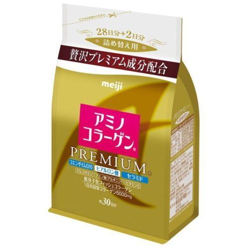 Meiji Amino Collagen Premium Powder 214g Refill 30 Days