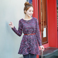 Colorful Textured Knit Dress