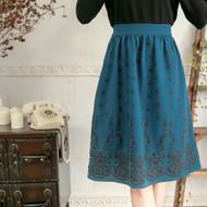 Flower Print Umbrella Skirt