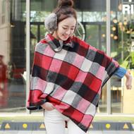 Scotland Plaid Wool Cape Coat