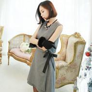 Bow Tie Decoration Vest Dress