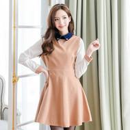 Lady Long-Sleeved A Line Dress